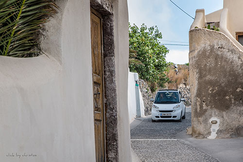 Driving Safely in Santorini